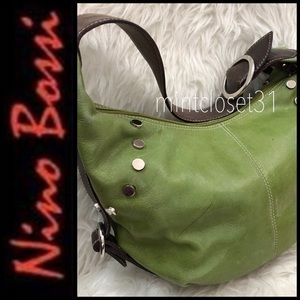 Nino Bossi Leather Hobo Bag